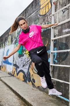 nike joggingbroek »nike sportswear swoosh women's french terry pants«