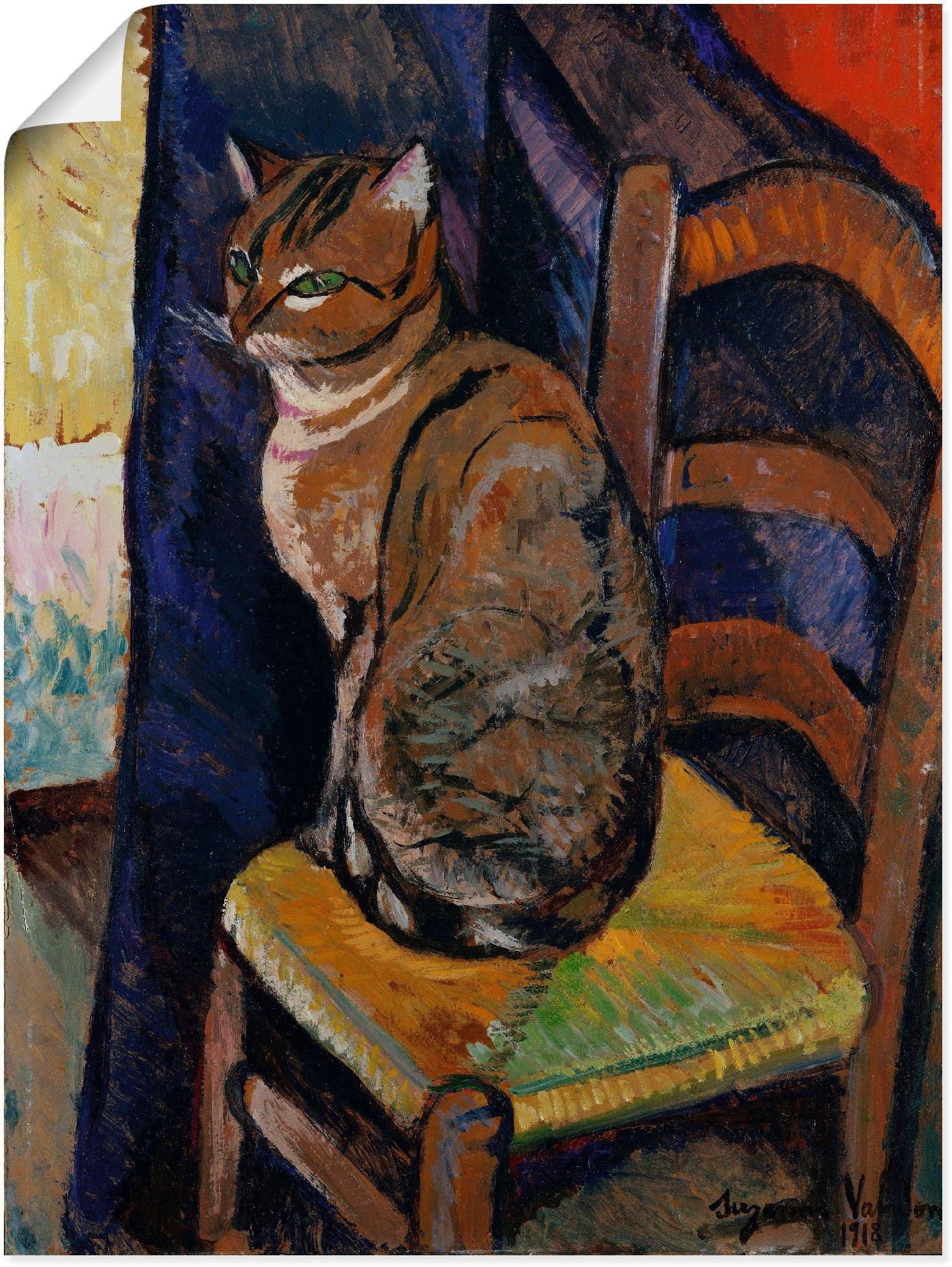 Artland artprint »Skizze Stuhl sitzende Katze.« goedkoop op otto.nl kopen
