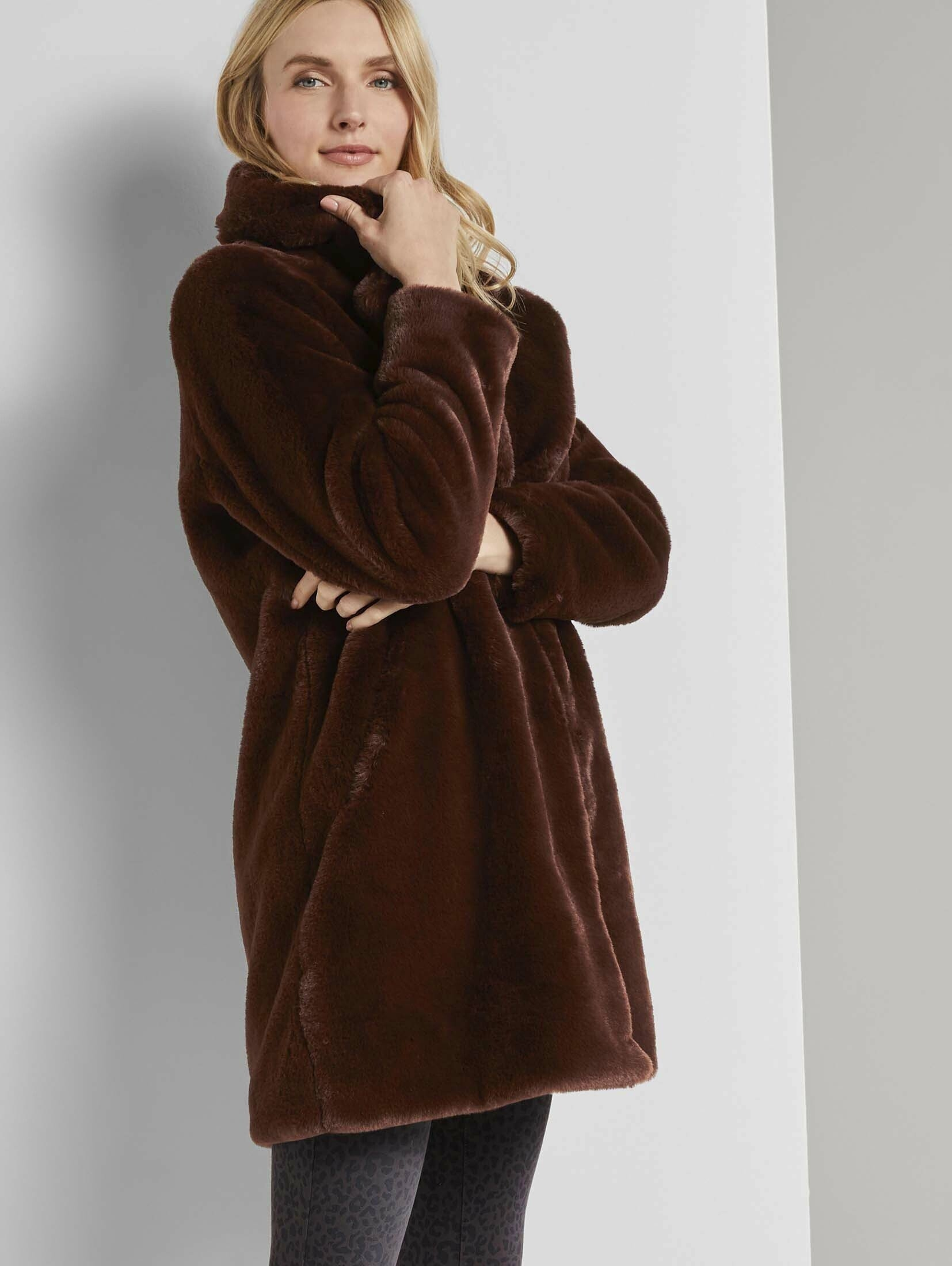 Tom Tailor jack van imitatiebont »Weicher Faux-Fur Mantel« nu online kopen bij OTTO
