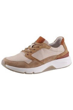 gabor rollingsoft sneakers met sleehak met contrastbeleg beige
