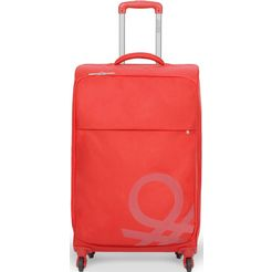 united colors of benetton zachte trolley blow, 69 cm, red rood