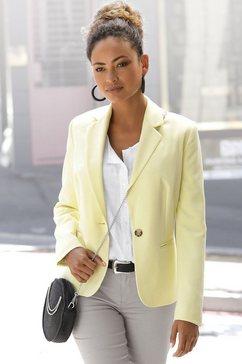 lascana korte blazer in klassieke vorm geel
