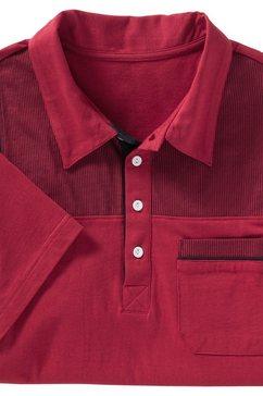 classic poloshirt met boord rood