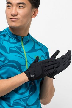jack wolfskin fleece-handschoenen »dynamic glove« zwart