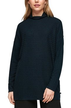 q-s designed by shirt met lange mouwen blauw