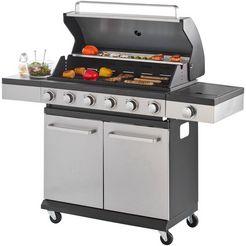 konifera gasbarbecue »milano xl«, bxdxh: 142x44x114 cm zilver
