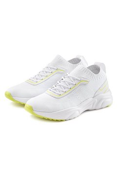 lascana sneakers comfortabel om zo aan te trekken van ultralicht meshmateriaal wit