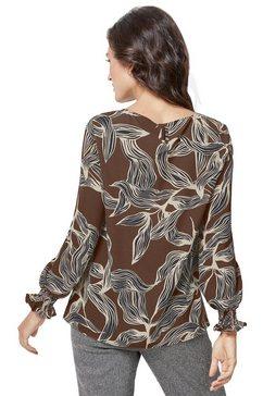 mimoska gedessineerde blouse bruin