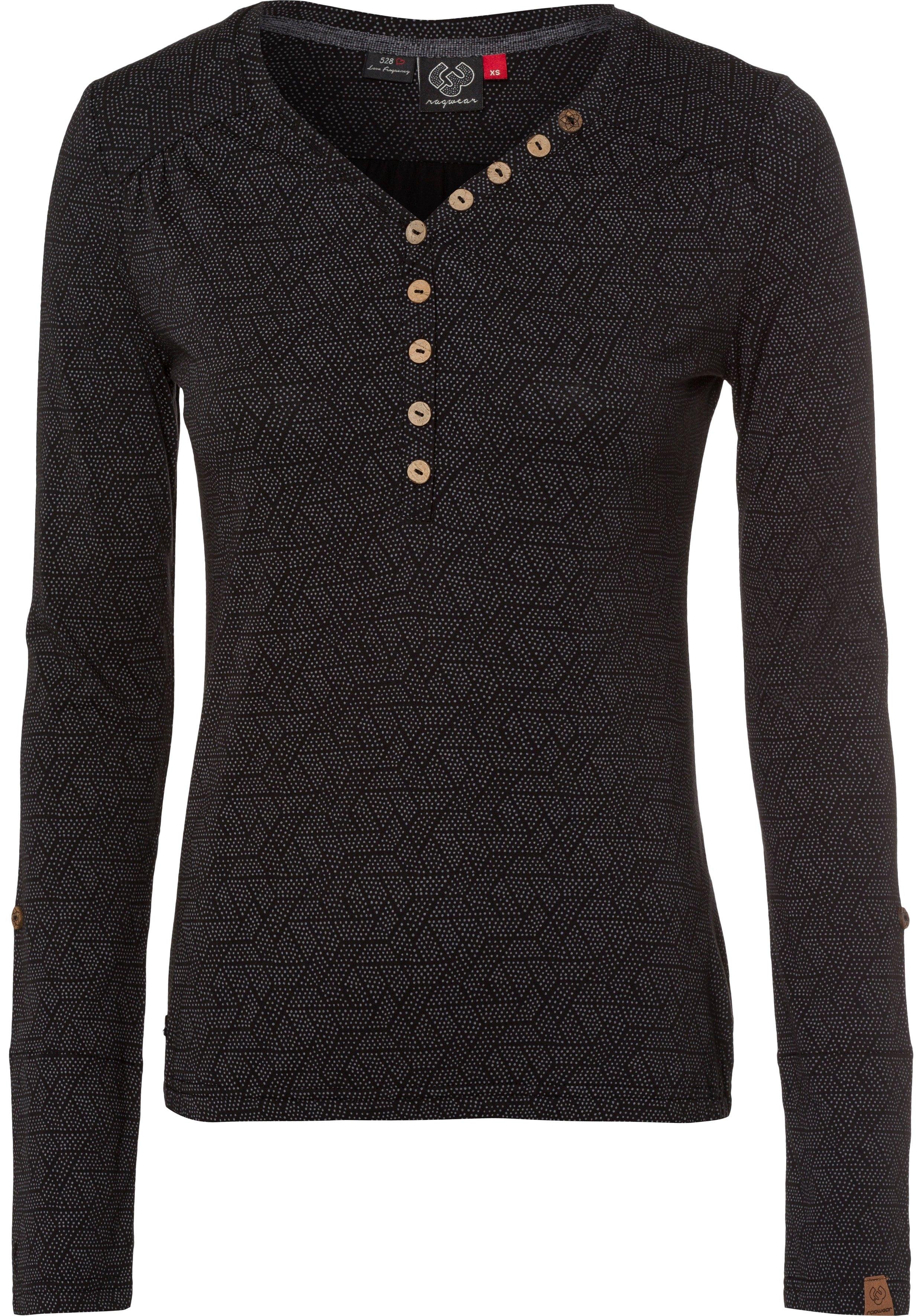 Ragwear Shirt met lange mouwen PINCH met print all-over - verschillende betaalmethodes