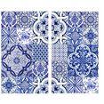 wall-art kookplaatdeksel artprint op glas portugese wandtegels (1-delig) multicolor