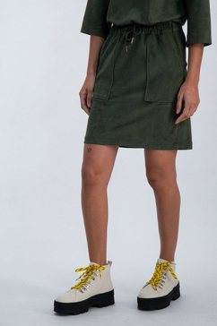garcia rok in a-lijn van suedinestof groen