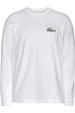 lacoste shirt met lange mouwen wit