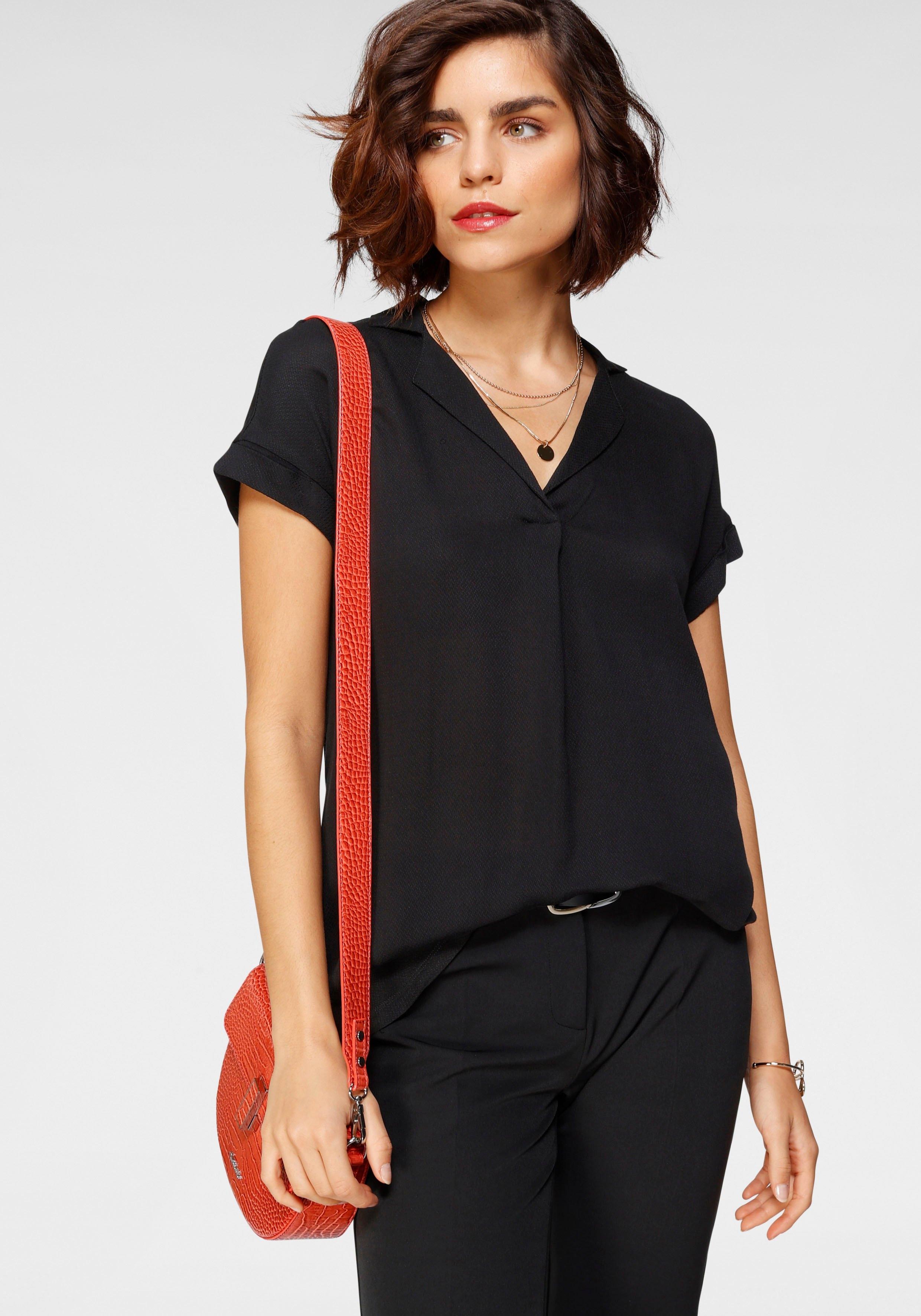 Tamaris blouse zonder sluiting met kraag bestellen: 30 dagen bedenktijd