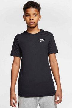 nike t-shirt »boys nike sportswear tee futura« zwart