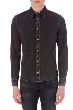 calvin klein jeansoverhemd slim foundation shirt zwart
