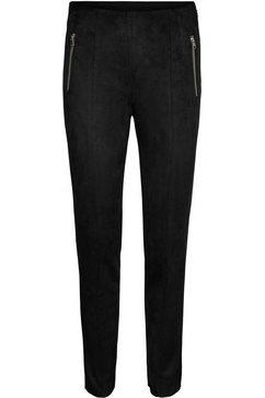 vero moda imitatieleren broek vmdonnadina zip fauxsuede zwart