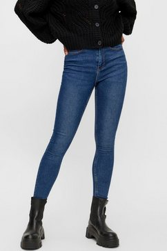 pieces skinny fit jeans pchighfive blauw
