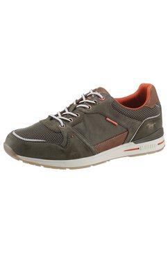 mustang shoes sneakers in de materiaalmix groen