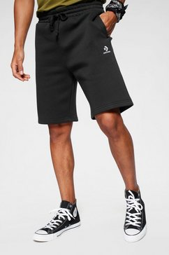 converse sweatshort mens embroidered star chevron shorts zwart
