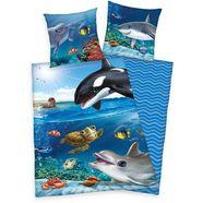 kinderovertrekset animal club met een geweldig zeediermotief blauw