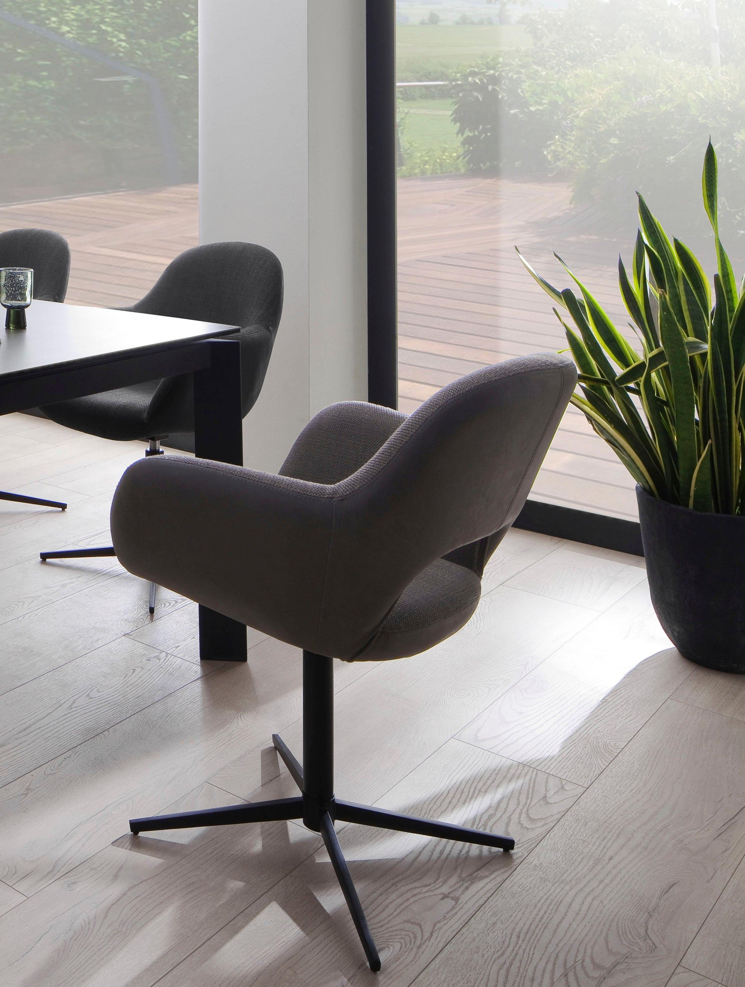 MCA furniture Eetkamerstoel MELROSE Stoel 360º draaibaar met nivellering (set, 2 stuks) - verschillende betaalmethodes
