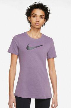 nike trainingsshirt dri-fit womens training t-shirt paars