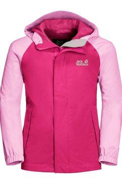 jack wolfskin functioneel jack tucan jacket kids roze