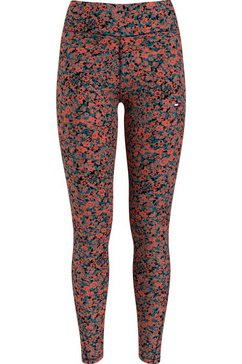 tommy sport functionele legging rw aop legging met modieuze all-over print multicolor