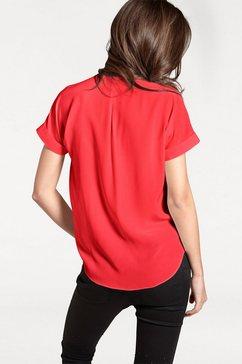 linea tesini by heine zijden blouse met opgestikte zakken rood