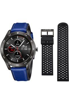 lotus smartwatch smartime, 50012-2 (3-delig, met wisselband van zacht silicone en oplaadkabel) blauw