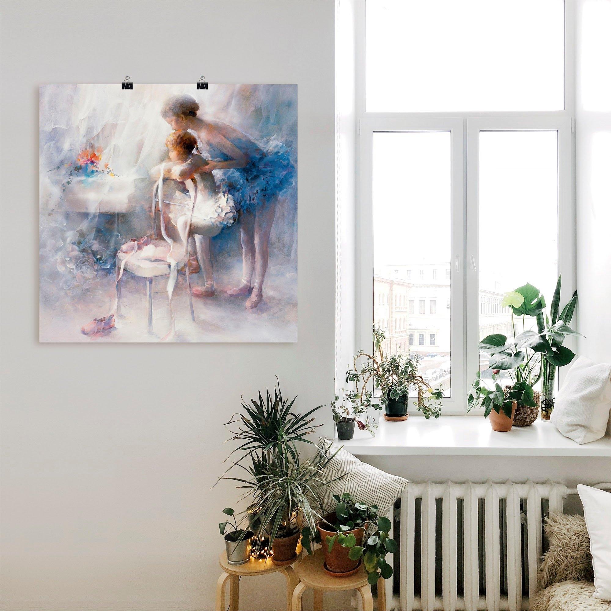 Artland artprint Ballet in vele afmetingen & productsoorten -artprint op linnen, poster, muursticker / wandfolie ook geschikt voor de badkamer (1 stuk) nu online kopen bij OTTO