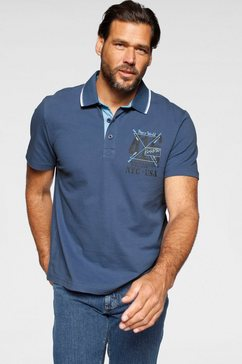 man's world poloshirt blauw