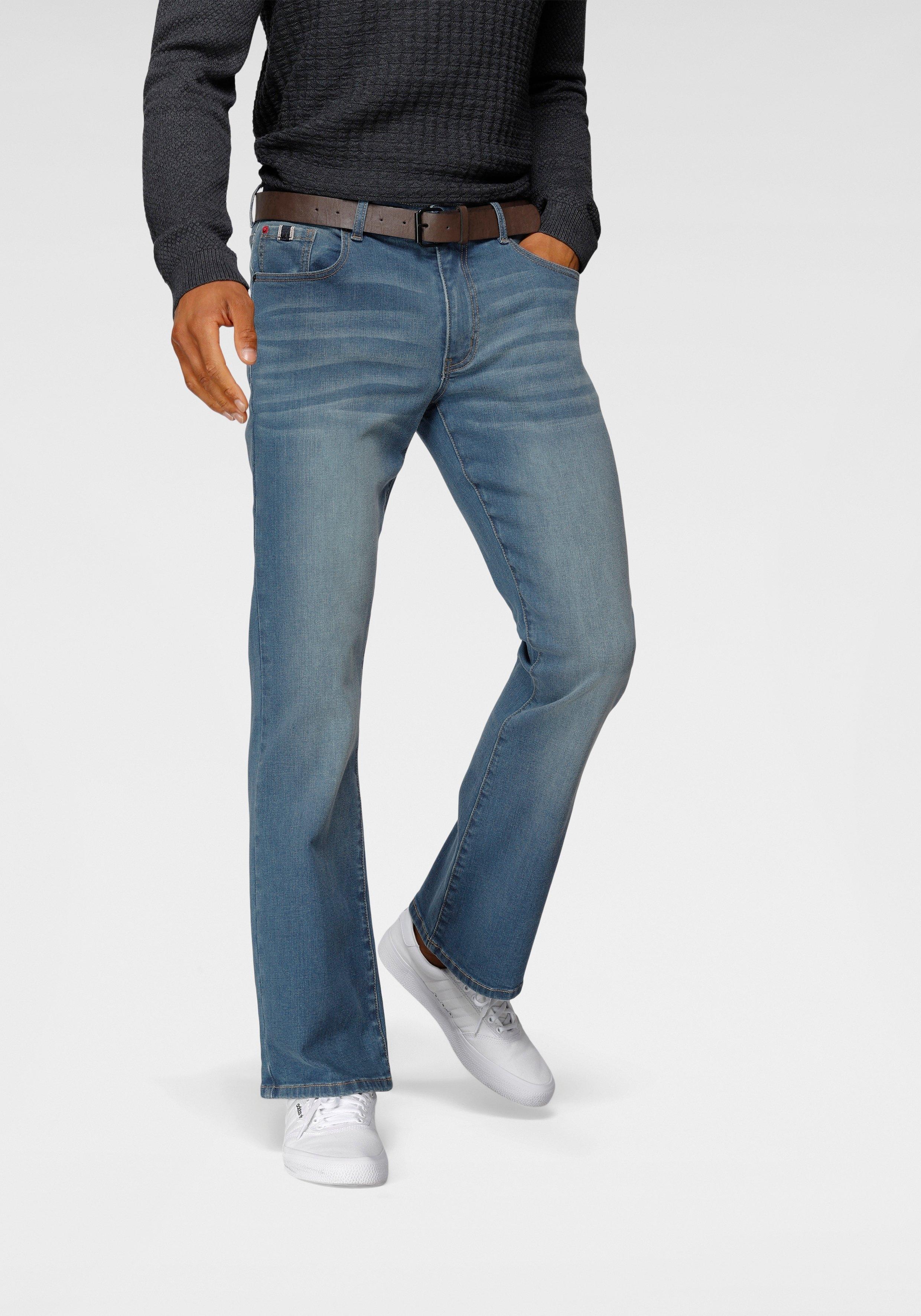H.I.S Bootcut jeans BOOTH Duurzame, waterbesparende productie door OZON WASH (set, Met een afneembare riem) - gratis ruilen op otto.nl