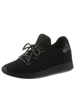 la strada sneakers met sleehak zwart