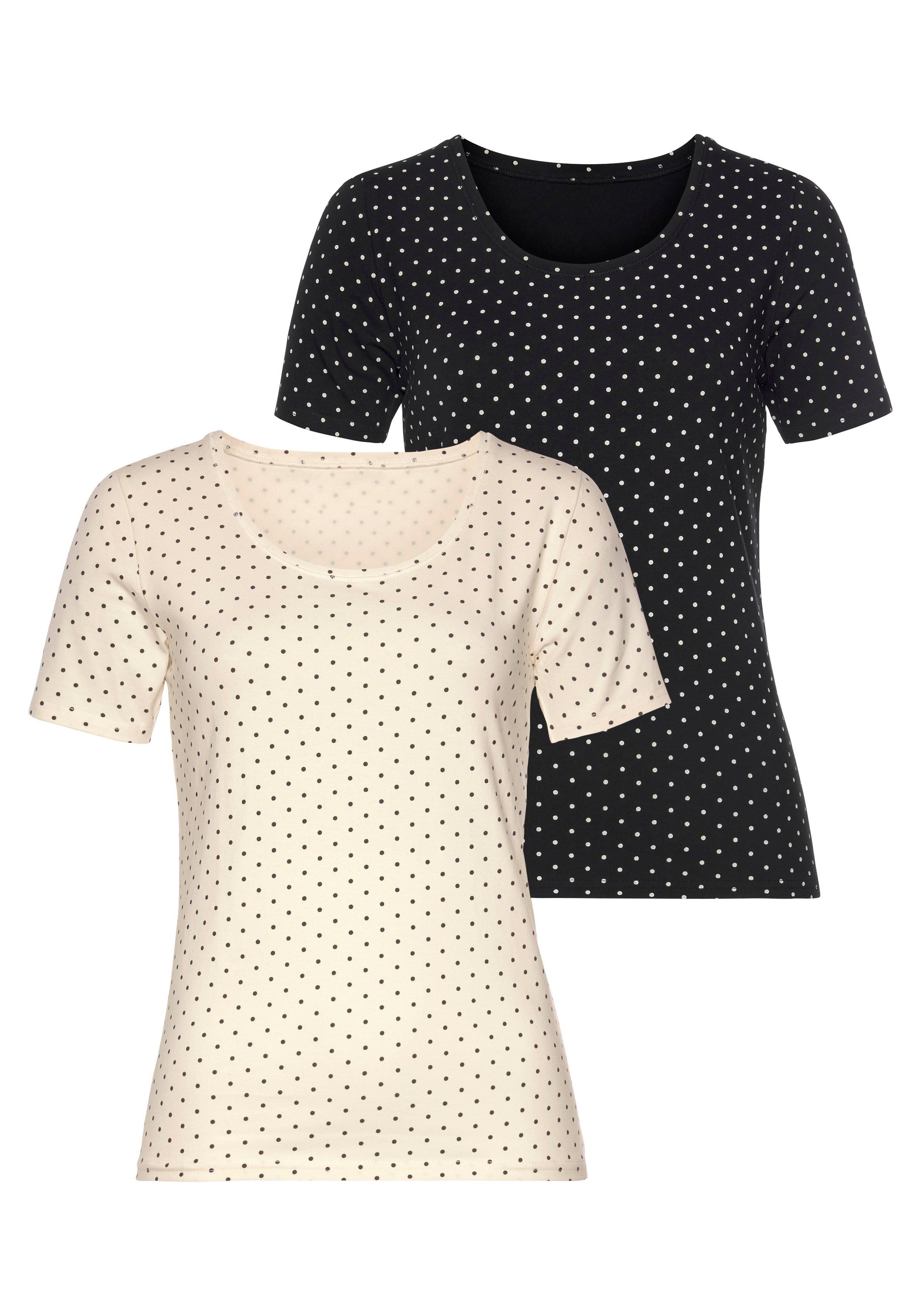 Vivance T-shirt elastische katoenkwaliteit (Set van 2) - gratis ruilen op otto.nl
