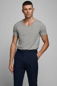 jack  jones t-shirt »jjebasic tee ss v-neck noos« grijs