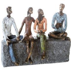 casablanca by gilde decoratief figuur sculptuur network decoratief object, hoogte 21 cm, met teksthanger, woonkamer (1 stuk) geel
