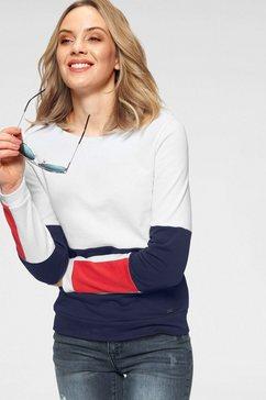arizona sweatshirt in colourblocking-design wit