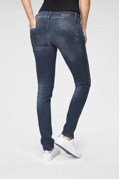 ltb slim fit jeans molly met comfortabele band met dubbele knoop blauw