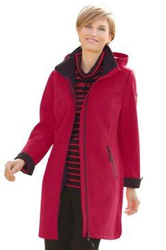 casual looks jas met fleecevoering rood