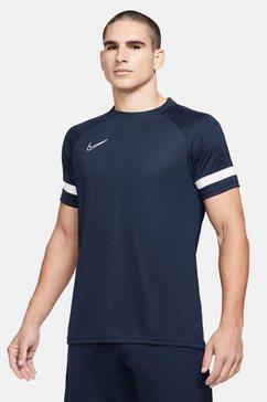 nike functioneel shirt nike dri-fit academy men's short-sleeve soccer top blauw
