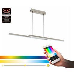 eglo hanglamp fraioli-c hanglamp, eglo connect, bediening via app + afstandsbediening, ble, cct, rgb, dimbaar, kleurwisseling zilver