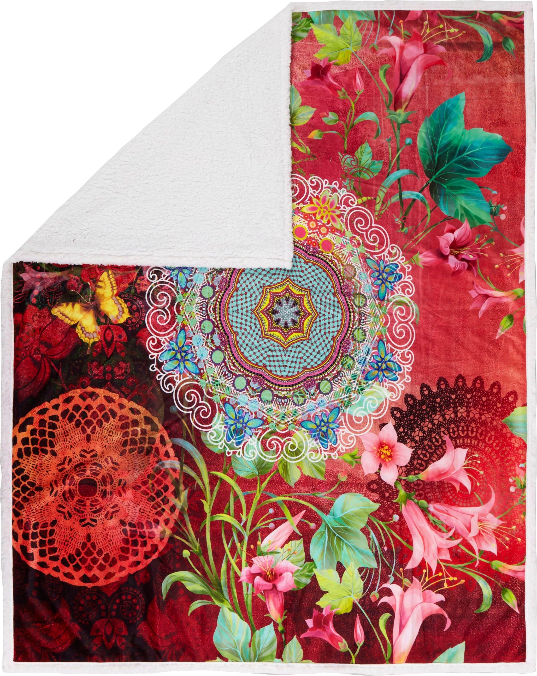 hip plaid Novali met mandala en bloemen in de webshop van OTTO kopen