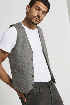 tom tailor colbert »anzugweste mit hahnentrittmuster« grijs