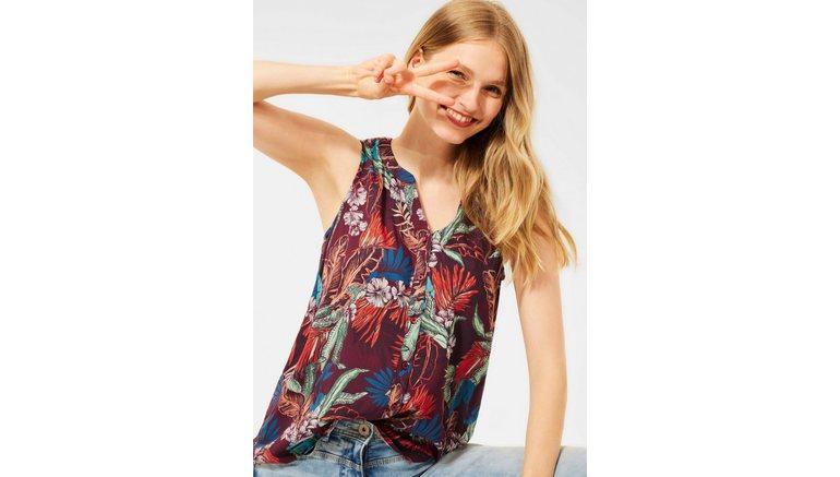 Cecil blouse zonder sluiting met gebloemd printmotief