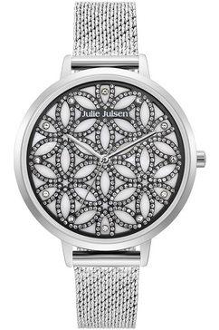 julie julsen kwartshorloge »flower of life sparkling silver, jjw1235g38-sme« zilver