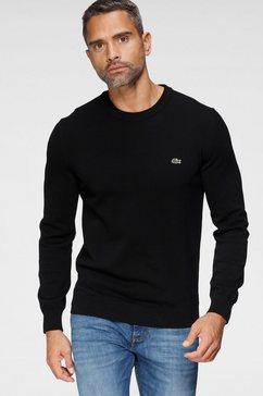 lacoste trui met ronde hals zwart