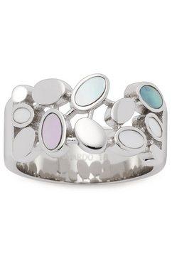 leonardo ring minea, 021296, 021297, 021298, 021299 met parelmoer zilver