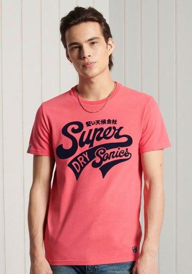 Superdry shirt met ronde hals COLLEGIATE GRAPHIC TEE voordelig en veilig online kopen