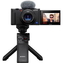 sony compact-camera vlogcamera zv-1 selfie stick gpvpt2bt.syu zwart